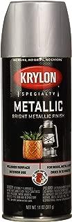 Krylon K01403 Metallic Spray Paint, Brilliant Metallic, Dull Aluminum