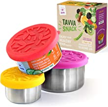 TAVVA Stainless Steel Food Containers - Plastic Free | Leakproof Silicone Lids | Reusable Containers | Spill Proof in Lunc...