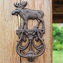 FSFF Trek deurgreep, Retro Vintage gietijzer ruwe ijzeren deurklopper, elanden deurklopper handvat, rustieke deurklopper h...