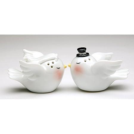 Dove oiseaux amour Salt /& Pepper Shaker Salière Poivrière Set Condiments Nouveauté Cadeau