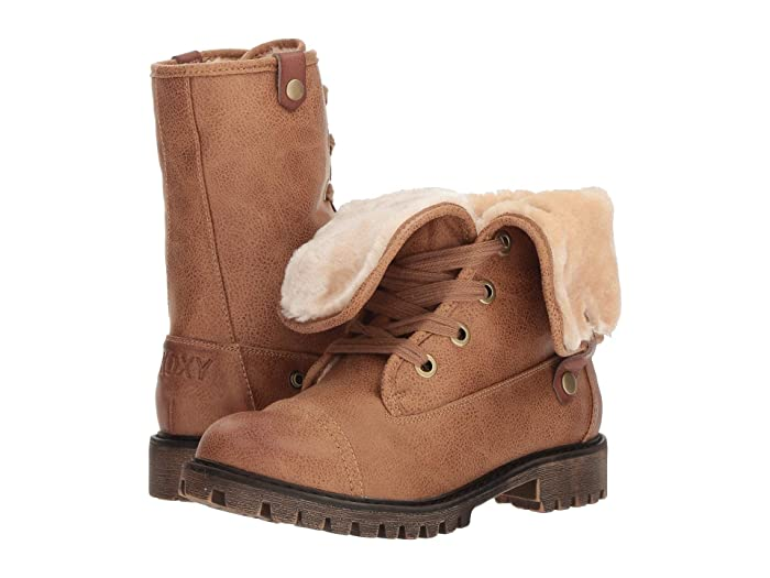 1940s Style Clothing & 40s Fashion Roxy Bruna Tan Womens Lace-up Boots $88.95 AT vintagedancer.com