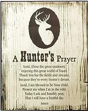 Hunter's Prayer Deer Rack 7.5 x 9.5 Wood Wall Art Plaque