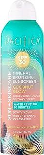 Pacifica Beauty Sun + Skincare Mineral Bronzing Sunscreen Spray 30 SPF, 6 Fl Oz