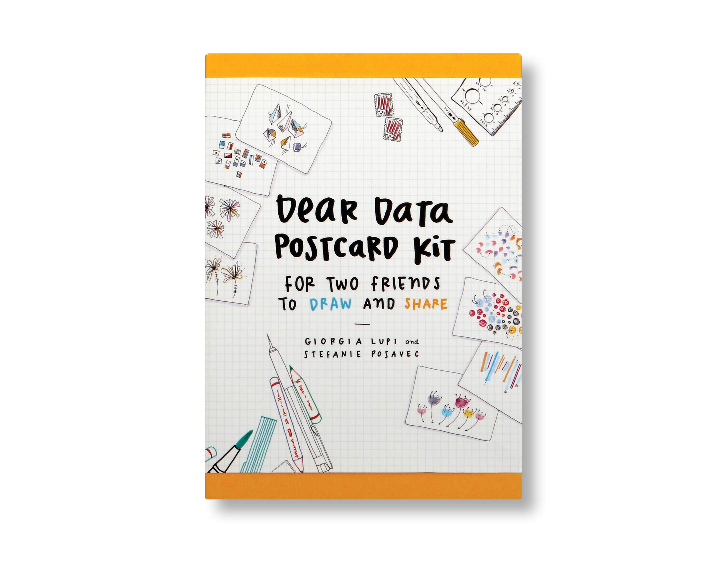 Dear Data Postcard Kit: For Two Friends To Draw And Share