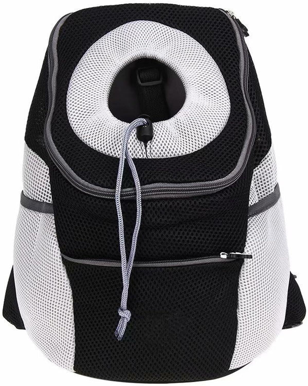 Choubao Pet Sling Shoulder Backpack Soft Sided Pet Dog Carriers Bag Breathable Comfortable Dog Pet Carrier Backpack Lightweight Pet Travel Carrier with Adjustable Shoulder Strap, Black XL