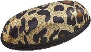 uxcell Black Brown Beige Leopard Pattern Flannel Lining Eyeglasses Case Box