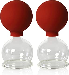 Vasos para ventosaterapia, de la marca Lauschaer Glas. Con ventosa, 2 unidades, 50 mm, para uso profesional