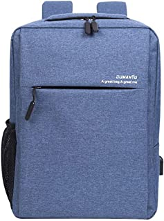Backpack Male Business Bookbag Large-Capacity Travel Computer Bag School College Can Charge Mobile Phone,Blue