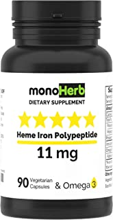 Heme Iron Polypeptide 11 mg - 90 Vegetarian Capsules