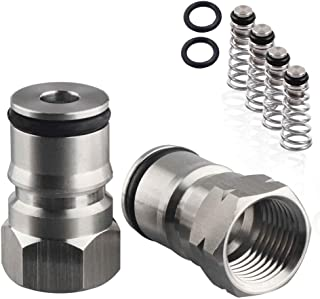 OneBom Ball Lock Post and 4 Poppets, 2 O Rings, 304 Stainless Steel 19/32