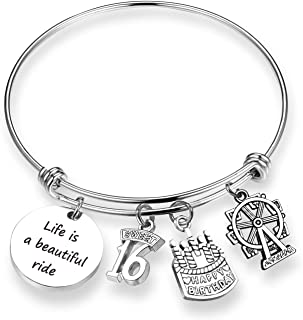 ZNTINA Sweet 16 Birthday Gift Bracelet Life is a Beautiful Ride Baptism Gift 16th Birthday Jewelry for Best Friend, Daughter