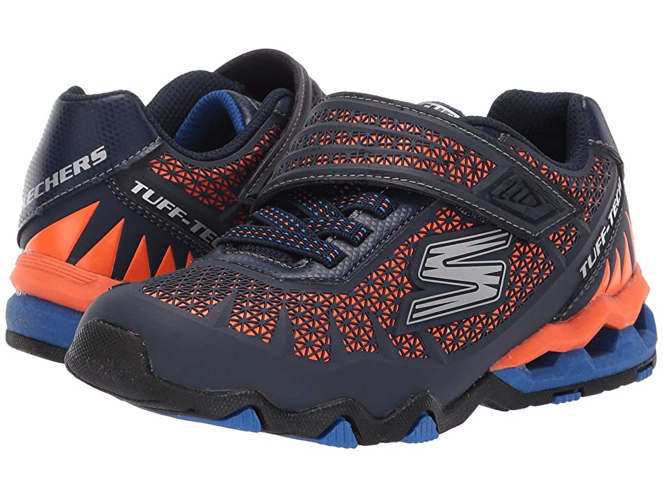 SKECHERS KIDS Hydro-Static (Little Kid/Big Kid) (Navy/Orange) Boy