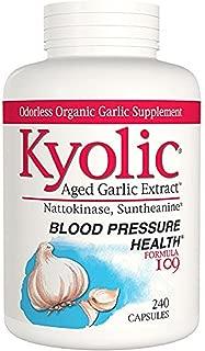 Kyolic Formula 109 Aged Garlic Extract Blood Pressure Health 240 Capsules