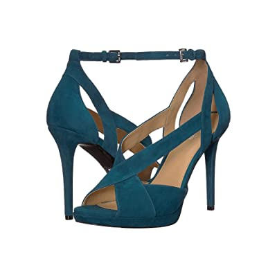 MICHAEL Michael Kors Becky Ankle Strap (Luxe Teal) Women