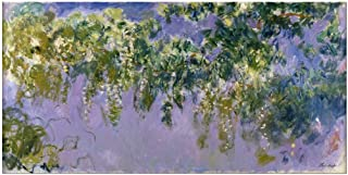 Wieco Art Wisteria Giclee Canvas Prints Wall Art of Claude Monet Famous Oil Paintings Reproduction Artwork Modern Impressionist Flower Pictures for Home Decorations for Living Room Bedroom Kitchen L