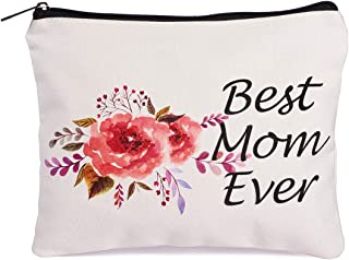 Gifts for Mom Best Mom Ever Makeup Bag Mothers Day Gifts for Mom Birthday Gifts for Mom Funny Holiday Gifts Travel Makeup Pouch Mom Christmas Gifts Thanksgiving Gifts for Mom