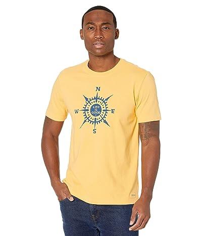 Life is Good LIG Compass Crushertm Tee (Baja Yellow) Men