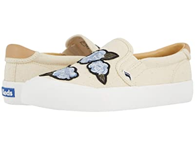 Keds Crew Kick 75 Slip-On Applique (Natural) Women