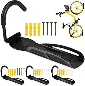 GZDUCK Bike Wall Mount Hook, Pack of 4 Bike Bicycle Wall Storage Hanger Rack Holder Bicycl Hook for Garage Shed,66lb Max Capacity for a Single Bike
