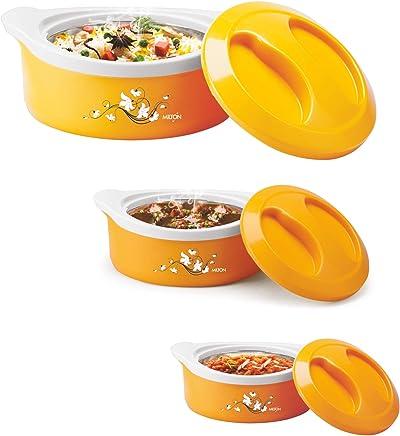 Milton Marvel Insulated Steel Casseroles, Junior Gift Set, 3 Pieces, Yellow