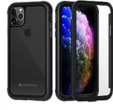 Coque iPhone 11 ProAntichoc Coque Armor Protection avec Verre Trempé intégrale Housse Etui Pour iPhone 11 Pro(6.1'') Noir