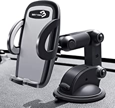 Cell Phone Holder for Car - BEYYON Dash Mount Cell Phone Holder for iPhone 11 Pro Xs Max XR X 8, Samsug Galaxy S10+ S9 S8, Note 9, LG, Huawei, etc.
