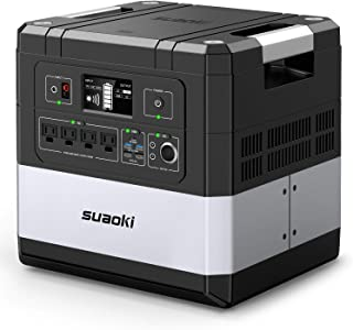 SUAOKI UPS Power Station, G1000 Portable Power Supply 1183Wh Silent Gas Free Generator..