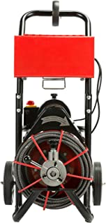 Orion Motor Tech 1/2 Inches by 50FT Pipe Cleaner Sewer Snake Drill Drain Auger Cleaner, 160RPM 4 Interchangeable Heads, Fit 2-4 Inches Pipes, UL Listed (Upgraded Version)