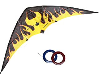 Dual-Line Stunt Kite Flying 1.7m Jumeirah Beach Kite Outdoor Intermediate-to-Professional Level Handle with Winder Storage...