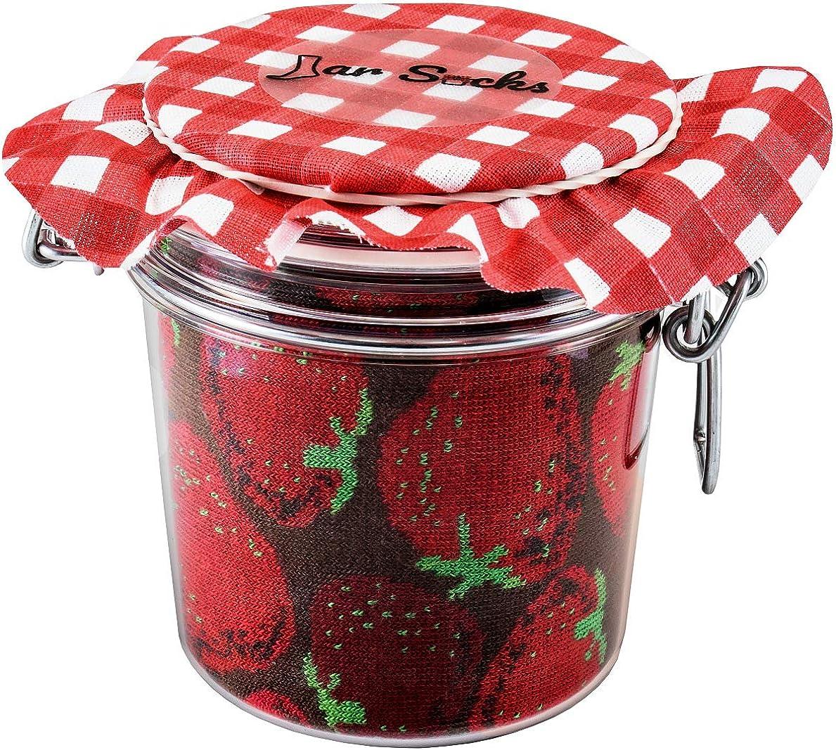 Rainbow Socks - JAR SOCKS Strawberries Blueberries Funny Gift - Unisex - 2 Pairs