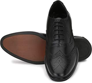 Nova Shoes Mens Genuine Leather Formal Business Wingtip Brogue Oxford Shoes
