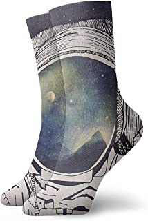 Be-ryl, Dreaming of Space Casual Crazy Crew Calcetines Suaves y novedosos