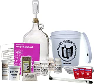 Home Brew Ohio Ohio Upgraded 1 gal Wine from Fruit Kit, Includes Mini Auto-Siphon