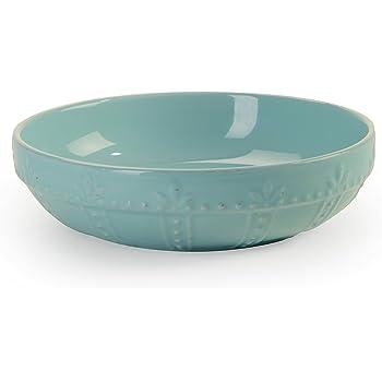 Signature Housewares Sorrento Collection Set of 4 Pasta Bowls, 8-Inch, Aqua