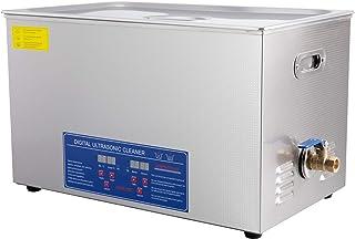 Sfeomi Ultrasone reinigingsapparaat, 30 liter, 600 W, ultrasone reiniger, met verwarming, digitale timer voor brillen, sie...
