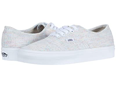 Vans Authentictm ((Rainbow Jersey) Multi/True White) Skate Shoes