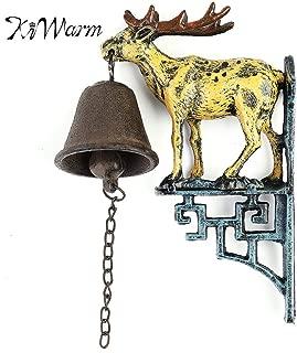Bell Wall - Est Cast Iron Door Bell Metal Wall Mounted Stag Head Deer Antler Reindeer Design Hanging Ornament - Head Small Cake Antlers Roses Bells Kids Bulk Chew Headband Reindeer Adult Adul
