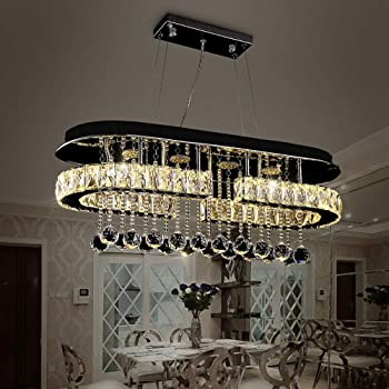 US $40.98 |Luxury Large 5 Rings Led Round Crystal Chandelier light Spiral Pendant Lamp Modern Chandelier Light Fixtures Stair Hotel Lamp|Chandeliers|