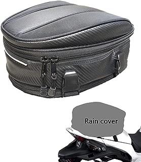 Motorcycle Tail Bag, Meago Multifunctional Sport Seat Bag Nylon Luggage Bag Motorbike Back Seat Bag Tear-Resistant Motorbike Accessories Bag for Universal Fit,15 Liters (Upgraded Tail Bag)