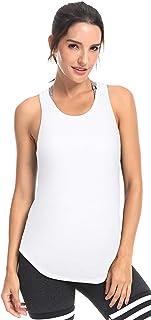 QUEENIEKE Women Sexy Yoga Tank Shirts Open Back Sports Tops