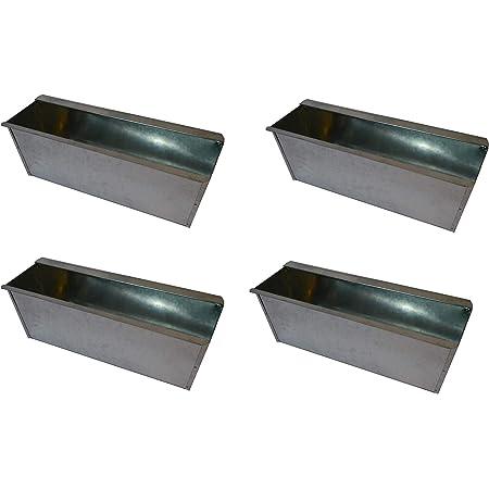 Blumenkasten Balkonkasten 4 Stück Pflanzkasten Einsatz für Europalette weiß