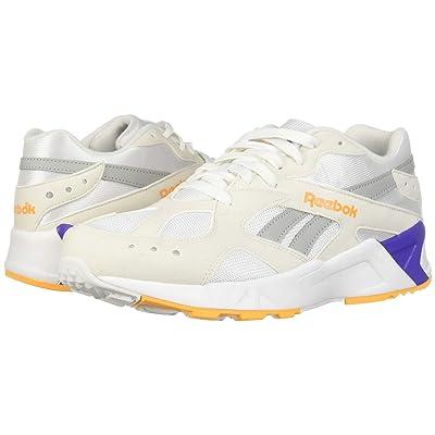 Reebok Lifestyle Aztrek (White/True Grey/Solar Gold/Team Purple) Athletic Shoes