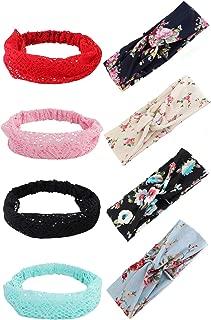 8 Pcs Headbands for Women Girls Wide Boho Knotted Yoga Head Wrap Hair Band