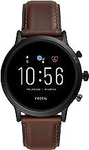 ساعت هوشمند صفحه نمایش لمسی از جنس استیل ضد زنگ Fossil Men's Gen 5 Carlyle با بلندگو ، ضربان قلب ، GPS ، NFC و تلفن های هوشمند