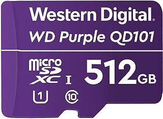 Western Digital WD Purple SC QD101 512GB Smart Video Surveillance microSDXC Card, Ultra Endurance Up to 256 TBW