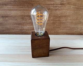 Lámpara de escritorio de madera