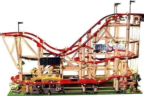 GODNECE LED Licht-Set für Baustein, Led Beleuchtungsset Licht-Set für Baustein Spielzeug Kompatibel Mit Lego Achterbahn 10261 Bausatz (Modell Nicht Enthalten)