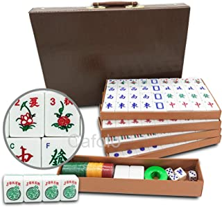 Chinese Mahjong X-Large 144 Numbered Melamine Tiles 1.5