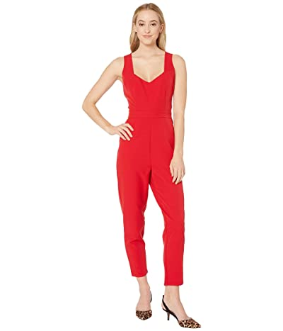 Jack by BB Dakota Oh Suit Stretch Crepe Jumpsuit with Sweetheart Neckline (Scarlet Red) Women