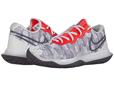 Nike NikeCourt Air Zoom Vapor Cage 4 (Platinum Tint/Thunder Grey/Laser Crimson) Women